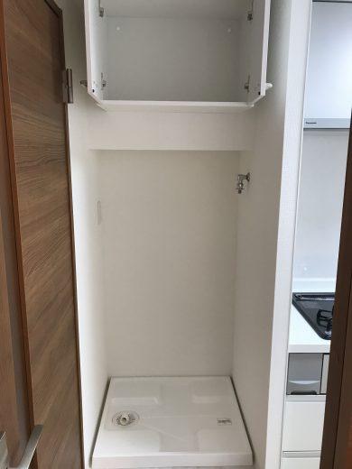 洗濯機置き場新規設置 吊戸棚新規取付