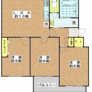 南長津田団地7号棟 735号室
