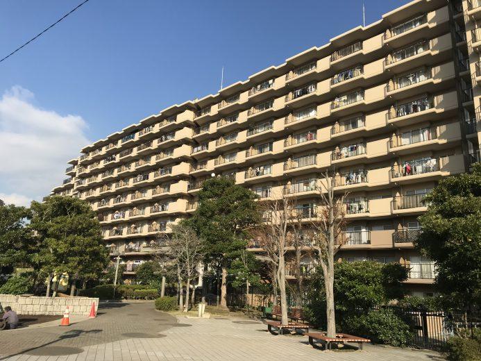 総戸数340戸の大規模マンション(外観)